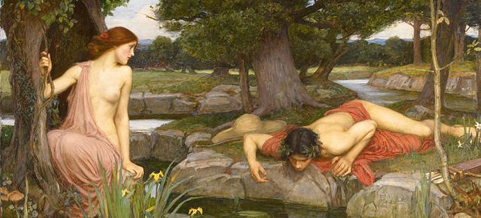 Narcisse raconté aux enfants par l'histoire de l'art activité culturelle pédagogique EAC mythologie
