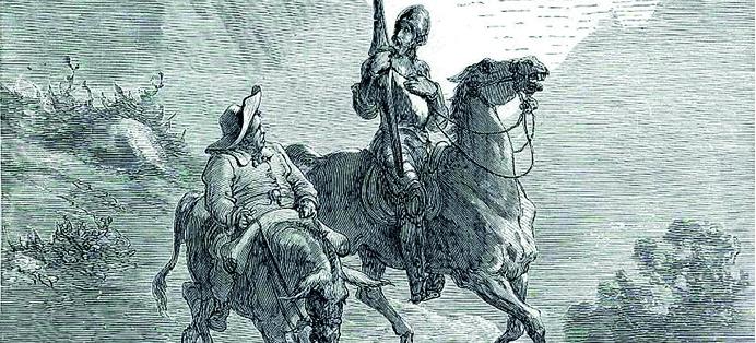 Don Quichotte cervantes opéra peinture gustave doré jacques brel raconté aux enfants par l'histoire de l'art activité culturelle pédagogique EAC