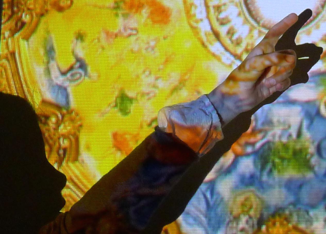 Des œuvres d'art sur grand écran