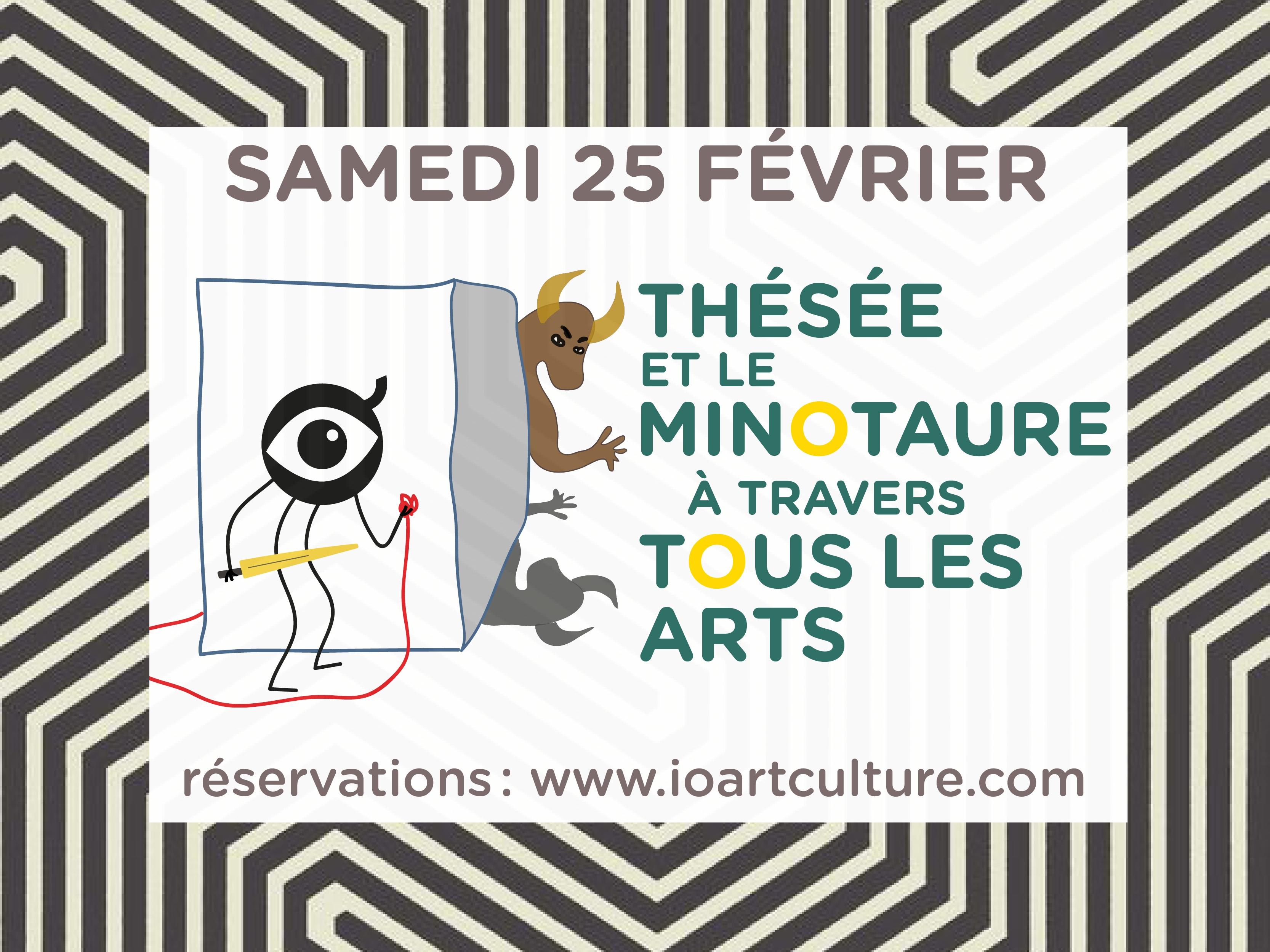 découvrez l'atelier Thésée et le Minotaure à travers tous les arts de little io
