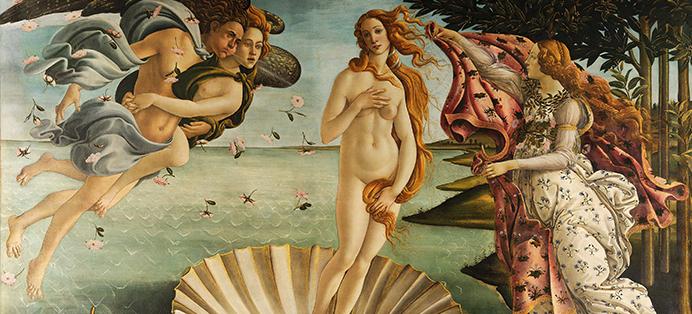 La naissance Vénus de Botticelli, la déesse aphrodite